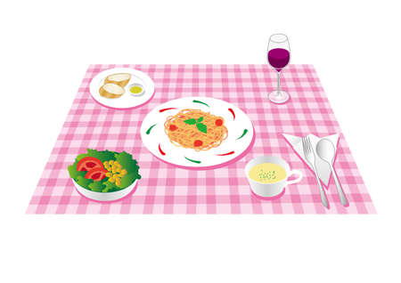 Italian lunch set