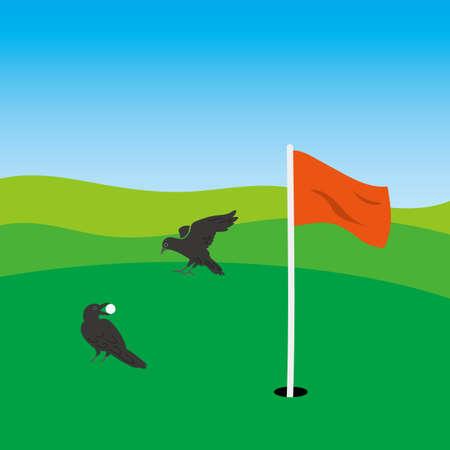 Illustration of golf range Illustration