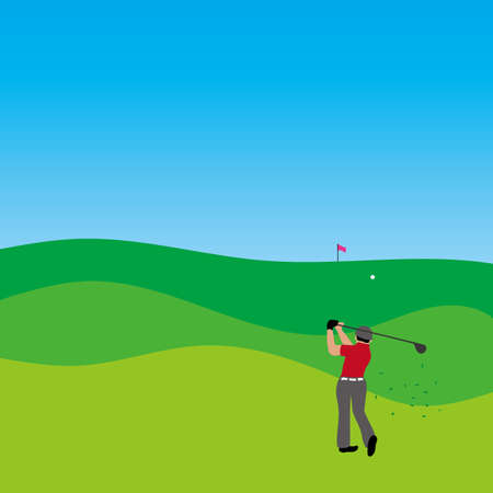 Illustration of golf player