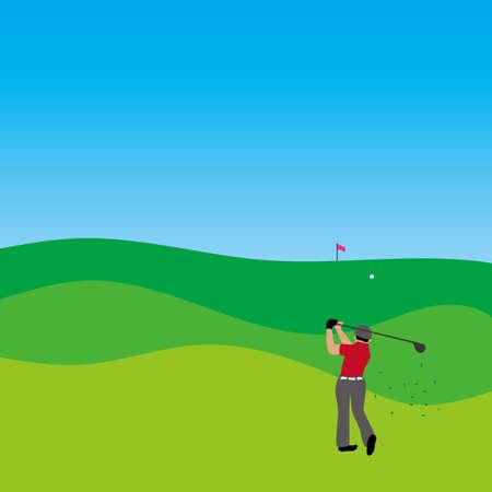 Illustration of golf player