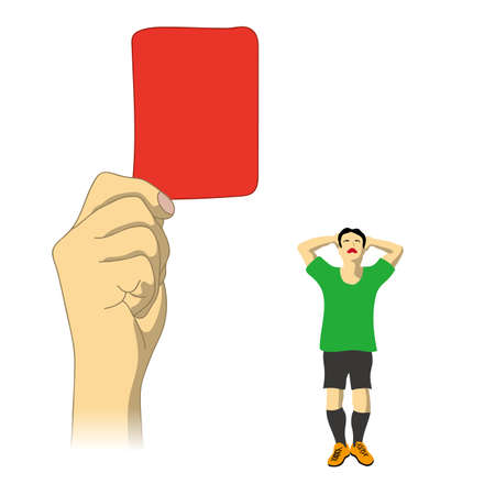Judgment of red card was issued
