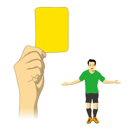 A judgment of yellow card was issued
