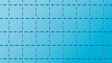 Blue background illustration of sardines. Ilustracja
