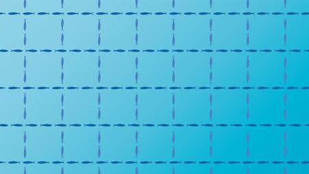 Blue background illustration of sardines. Illustration