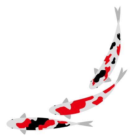 Synchronized swimming of carp icon.