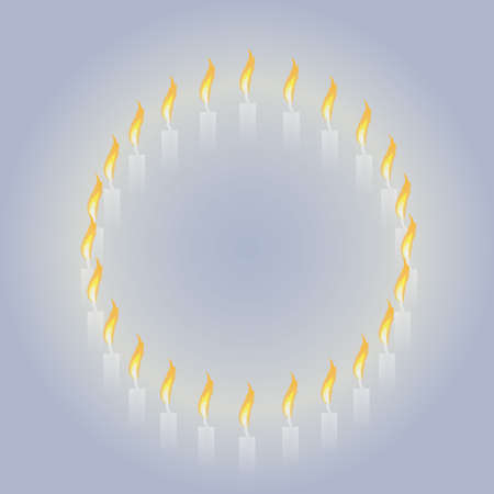 Flame of a candle Illustration