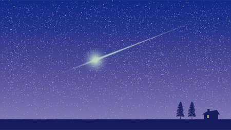 cielo estrellado y el aburrimiento Ilustración de vector