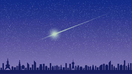 Starry Sky and Meteor
