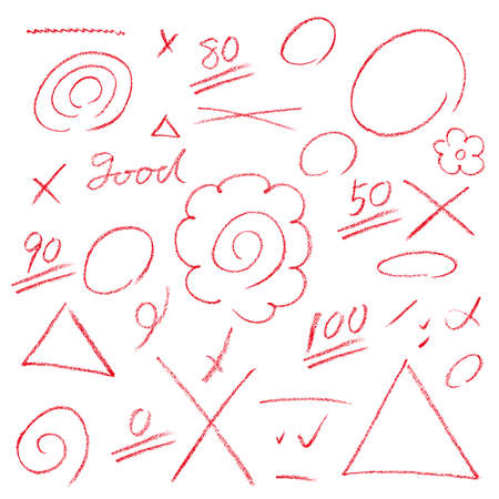 Marking of the answer sheet Illustration