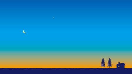 Moon and Venus Ilustração