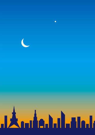 Moon and Venus Illustration