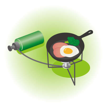 Portable stove and camping food