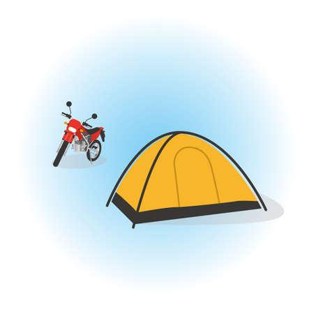 Illustration of auto camp Banco de Imagens - 121646193