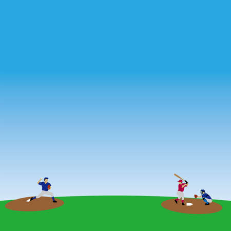 Illustration of baseball created with EPS data