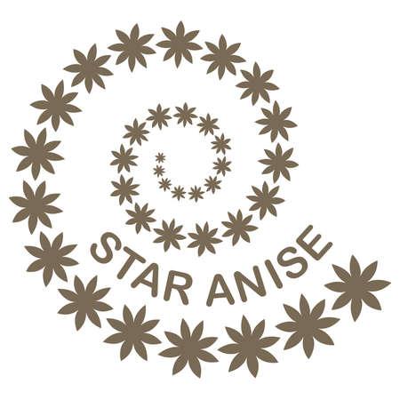 Illustration of star anise