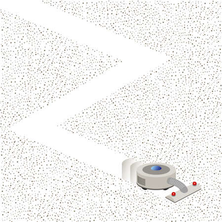 Illustration of a new cleaning Robot