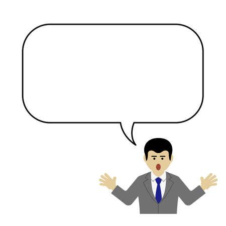 Contact person and blank speech balloon