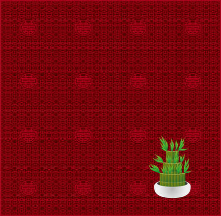 Million bamboo and Chinese lattice pattern (Created with EPS data)