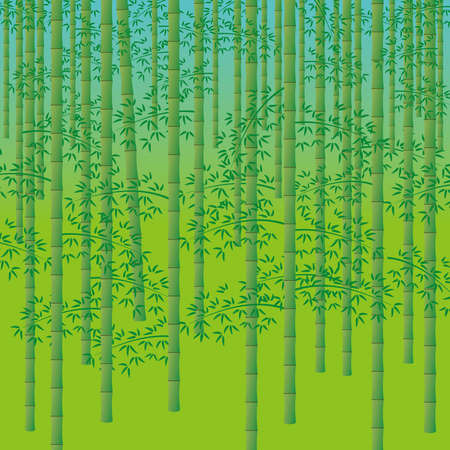 Bamboo forest background illustration (Created with EPS data)