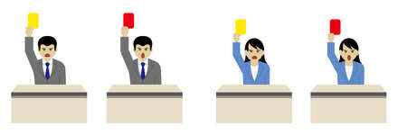 Judgment of senior employees (Created with vector data)