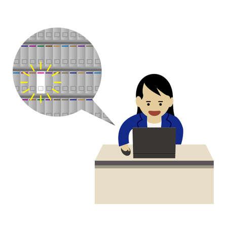 Paperless (Created with Vector data) Ilustração