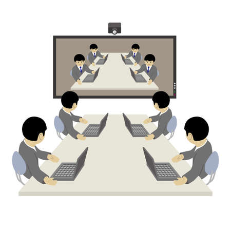 Video Conferencing (Created with Vector Data)