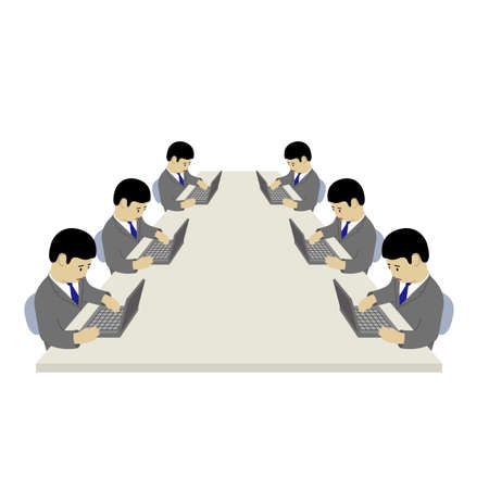 Sales meeting (Created with vector data)