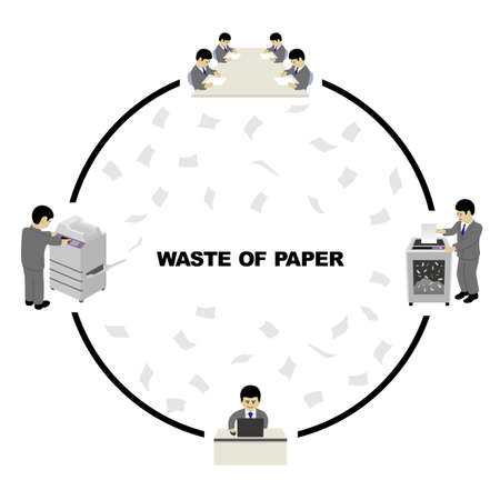 Waste of Paper (Created with Vector Data)