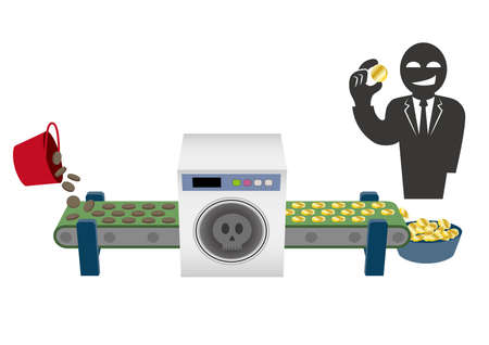 Imaginary Illustration of Money Laundering (Created with Vector Data)