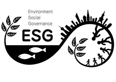 Illustration and Imagination Illustration of ESG (Created with Vector Data) Vectores