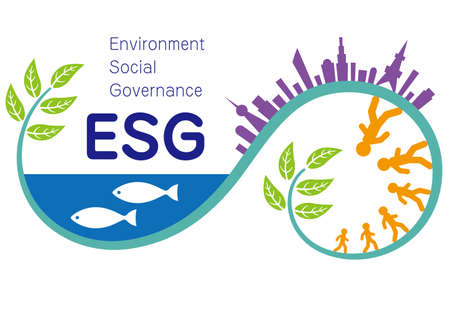 Illustration and Imagination Illustration of ESG (Created with Vector Data)