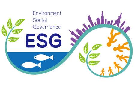 Illustration und Imagination Illustration von ESG (erstellt mit Vektordaten)