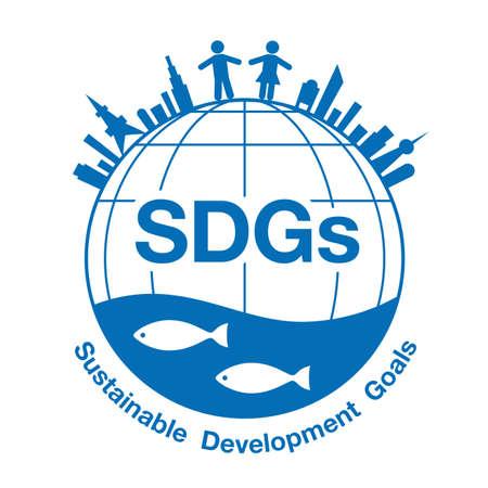 illustration Imagination of Sustainable Development Goals (Created with vector data) Vettoriali