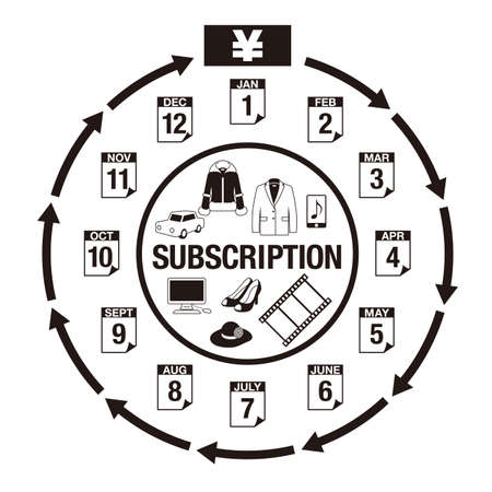 Illustration for explaining the subscription (Created with vector data)
