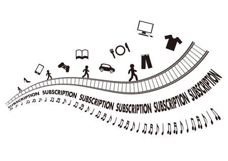 illustration of the subscription (Created with vector data)