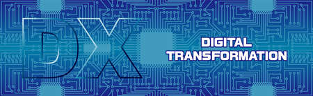 Imaginary Illustration of Digital Transformation (Created with Vector data)