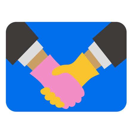 Shake hands with gloves (Created with vector data) Archivio Fotografico - 149972965