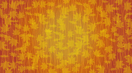 Image of abstract autumn. Fallen leaves. Created with vector data.