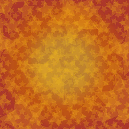 Abstract autumn image. Gradient background that changes from yellow to orange and random star pattern. Created with vector data. Great for autumn postcards and banner backgrounds.