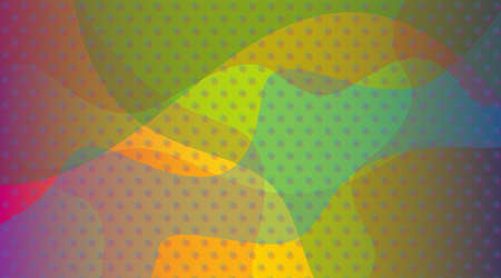 Background illustration. An abstract illustration in which regularly arranged dots overlap with a color surface that is irregularly divided by a curve. I imagined falling snow and a fun party.