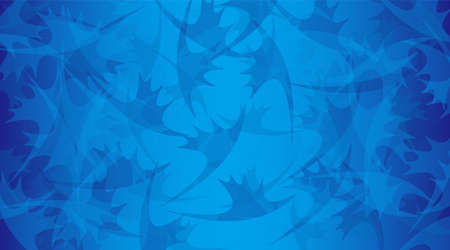 Background illustration. An object with the image of irregularly arranged reindeer horns and a blue gradation overlap.