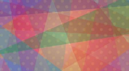 Background illustration. An abstract illustration in which regularly arranged dots overlap with a color plane that is irregularly divided by a straight line. I imagined a gift wrapping paper.