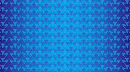 Background illustration. An illustration of regularly arranged reindeer and a blue gradation overlap. Christmas image. Çizim