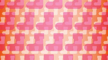 Background illustration. An illustration of regularly arranged socks and an orange gradation overlap. Image of Christmas gifts.