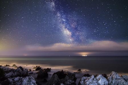 felice: Milky Way in San Felice Circeo Stock Photo