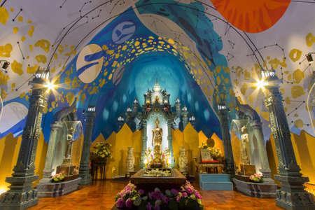 praye: God statue in temple Editorial