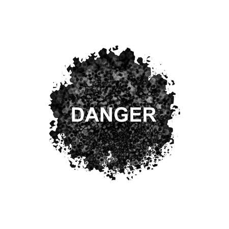 contagious: Danger abstract isolated on white background Editorial