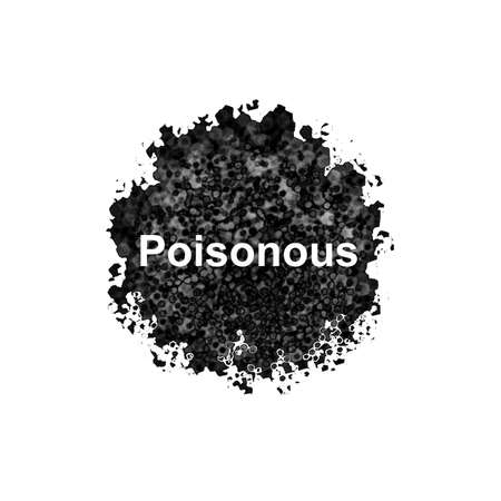 contagious: Poisonous abstract isolated on white background