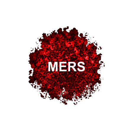 viral strain: Mers Corona Virus, MERS-COV isolated on white background