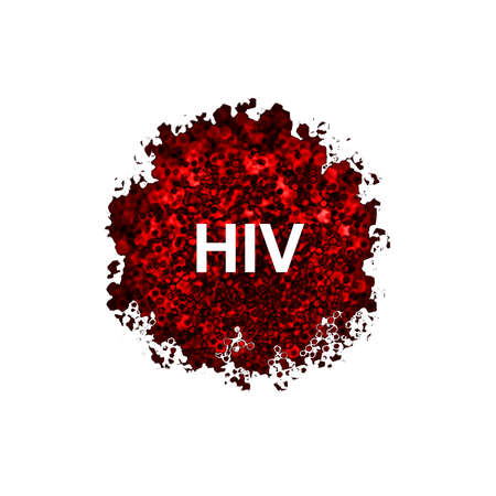 hiv virus: HIV Virus isolated on white background